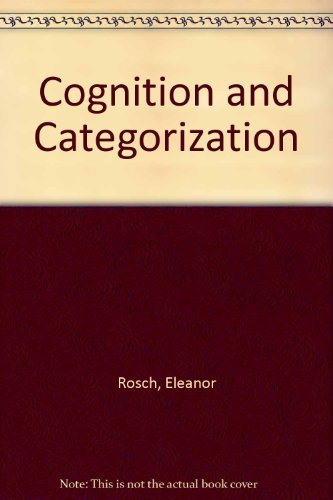 9780470263778: Cognition and Categorization