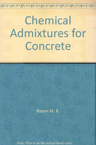 9780470263983: Chemical admixtures for concrete