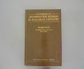 9780470265017: A Handbook of Decomposition Methods in Analytical Chemistry