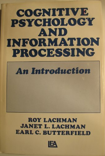 9780470266496: Cognitive Psychology and Information Processing: An Introduction