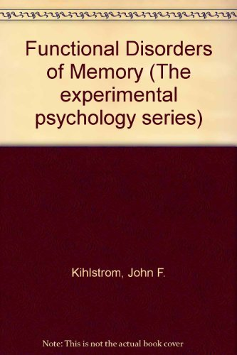 9780470266984: Functional Disorders of Memory (The experimental psychology series)