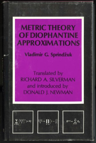 9780470267066: Metric Theory of Diophantine Approximations (Scripta series in mathematics)