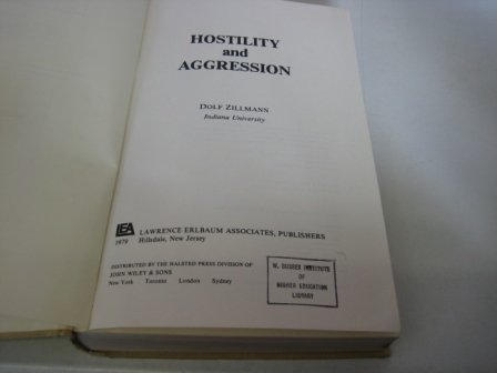 9780470268322: Hostility and Aggression
