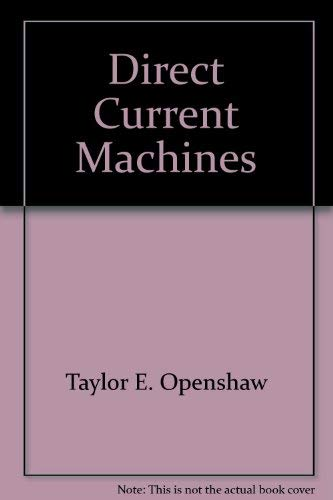 9780470268384: Direct current machines