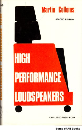 9780470268759: High performance loudspeakers
