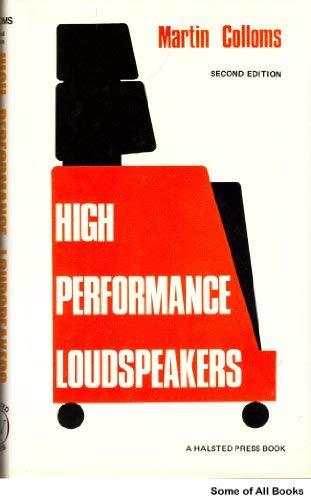 9780470268759: High performance loudspeakers