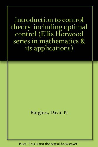 9780470269985: Introduction to control theory, including optimal control (Ellis Horwood series in mathematics & its applications)