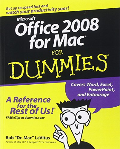 9780470270325: Office 2008 for Mac For Dummies