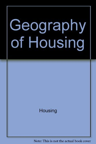 9780470270585: Geography of housing (Scripta series in geography)