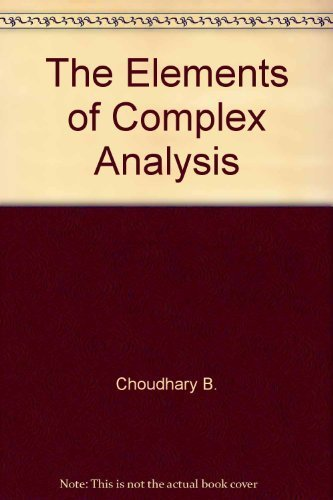 9780470274927: The elements of complex analysis
