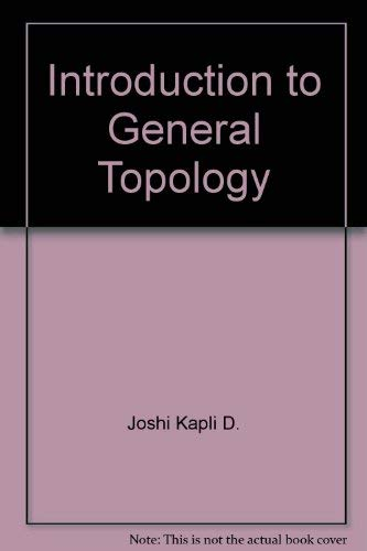 9780470275566: Introduction to general topology