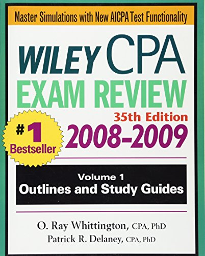 9780470278932: Wiley CPA Examination Review, Outlines and Study Guides (Wiley CPA Examination Review Vol. 1: Outlines & Study Guides) (Volume 1)