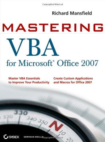 9780470279595: Mastering VBA for Microsoft Office 2007