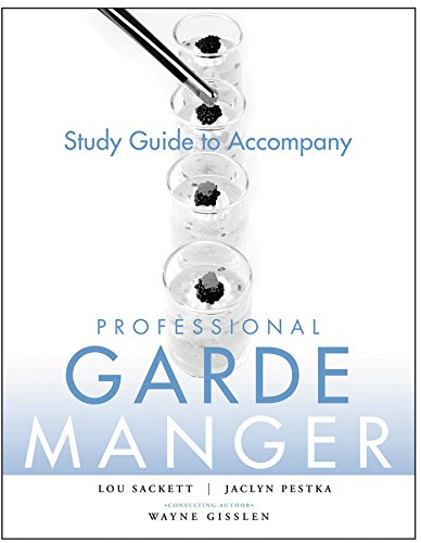 9780470284735: Study Guide to accompany Professional Garde Manger: A Comprehensive Guide to Cold Food Preparation