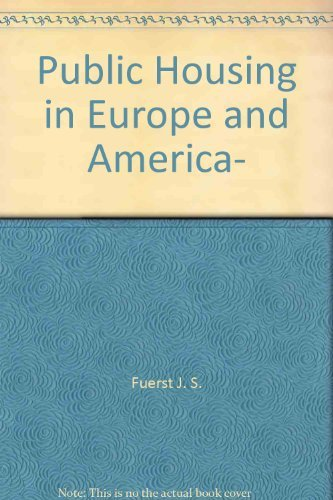 9780470285152: Public housing in Europe and America, [Taschenbuch] by