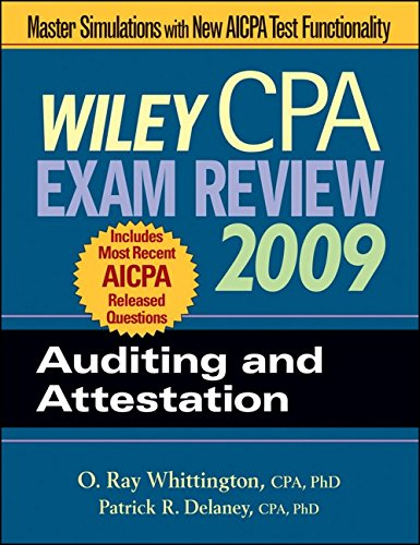9780470286012: Wiley CPA Exam Review 2009: Auditing and Attestation