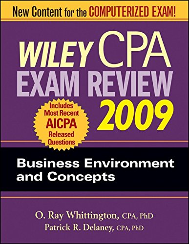 9780470286029: Wiley CPA Exam Review 2009: Business Environment and Concepts (WILEY CPA EXAMINATION REVIEW)