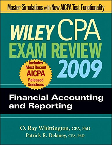 9780470286036: Wiley CPA Exam Review 2009: Financial Accounting and Reporting