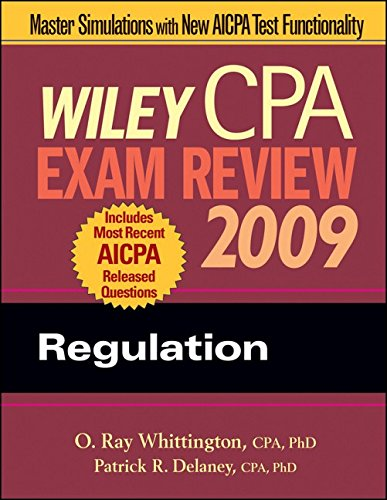 9780470286043: Wiley CPA Exam Review 2009: Regulation (Wiley CPA Examination Review: Regulation)