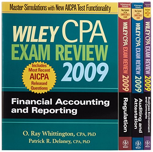 9780470286050: Wiley CPA Exam Review 2009: 4-Volume Set