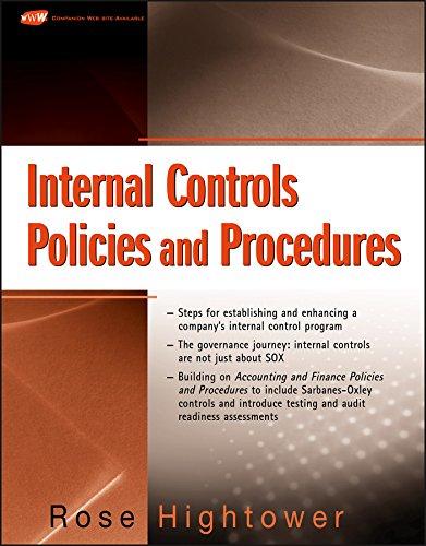 9780470287170: Internal Controls Policies and Procedures