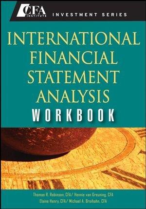 9780470287675: International Financial Statement Analysis Workbook (CFA Institute Investment Series)