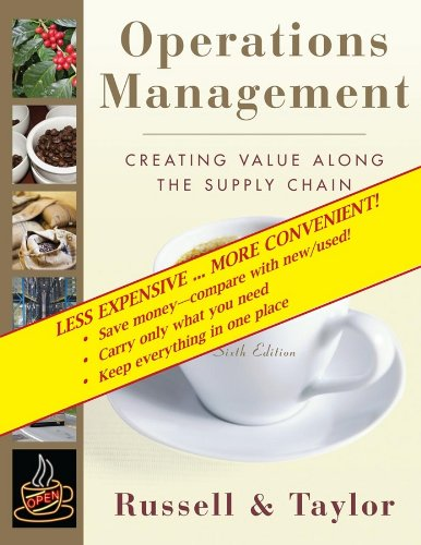 Operations Management: Creating Value Along the Supply Chain, 6th Edition Binder Ready: Bernard W. ...