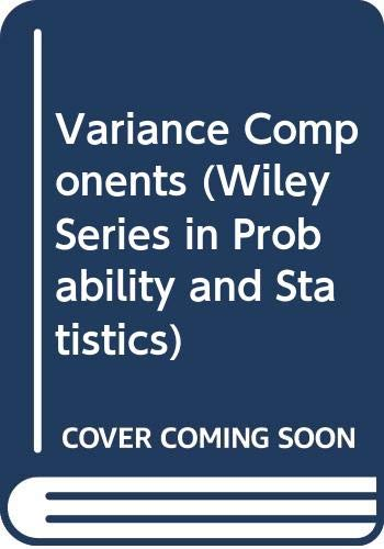 9780470316856: Variance Components