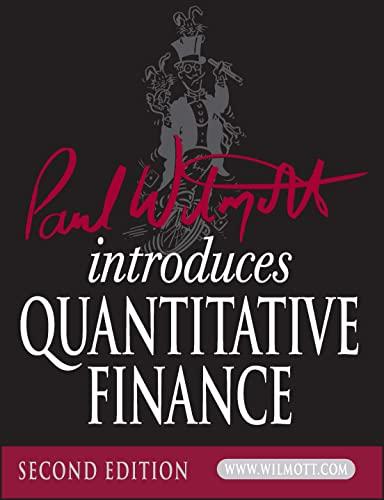 9780470319581: Paul Wilmott Introduces Quantitative Finance