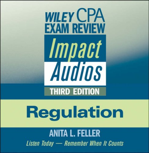 9780470323380: Wiley CPA Exam Review Impact Audios: Regulation