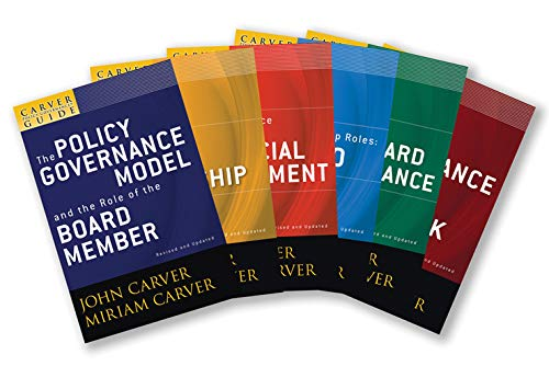 9780470325100: A Carver Policy Governance Guide, The Carver Policy Governance Guide Series on Board Leadership Set