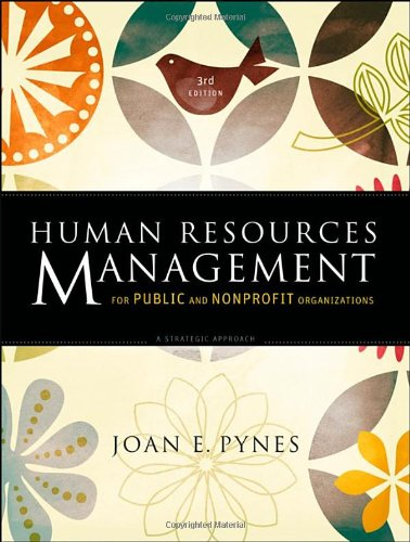 9780470331859: Human Resources Management for Public and Nonprofit Organizations: A Strategic Approach