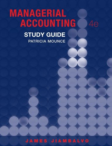9780470333426: Study Guide to accompany Managerial Accounting 4e