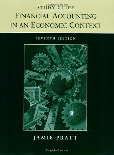 9780470343319: Financial Accounting in an Economic Context, Study Guide