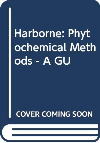 9780470351338: Harborne: Phytochemical Methods - A GU
