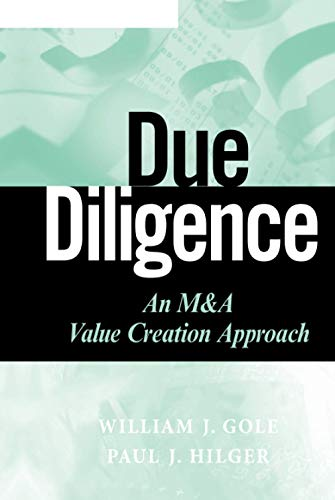 9780470375907: Due Diligence: An M&A Value Creation Approach (Wiley Finance Series)
