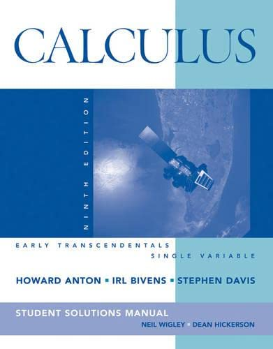 9780470379585: Calculus Early Transcendentals Single Variable, Student Solutions Manual