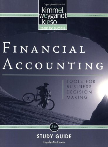 9780470379769: Financial Accounting, Study Guide: Tools for Business Decision Making