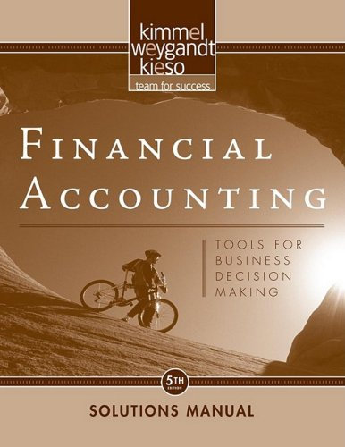 9780470379783: Financial Accounting: Tools for Business Decision Making Solutions Manual