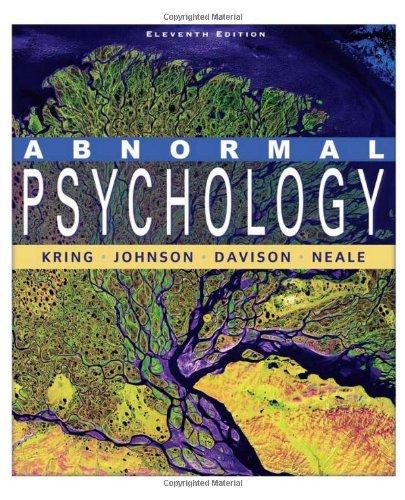 9780470380086: Abnormal Psychology