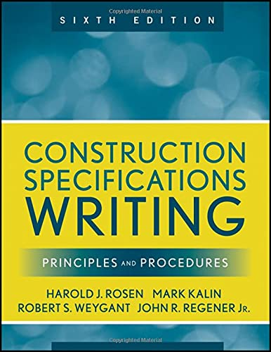 9780470380369: Construction Specifications Writing: Principles and Procedures