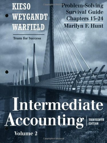 9780470380581: Problem Solving Survival Guide, Volume II (Chapters 15-24) to accompany Intermediate Accounting