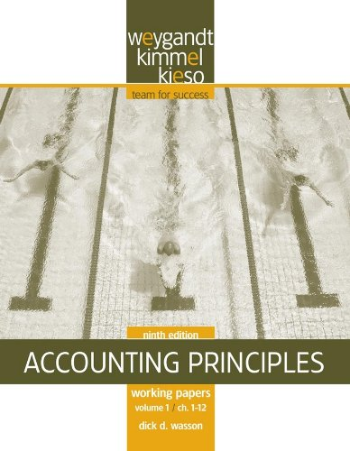 9780470386620: Working Papers, Volume I, Chapters 1 - 12 to accompany Accounting Principles