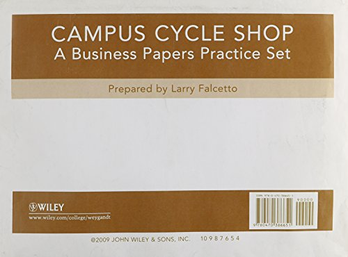 9780470386651: Campus Cycle Practice Set to accompany Accounting Principles