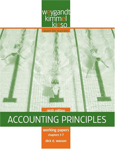 Accounting Principles, Working Papers Chapters 1-7: Jerry J. Weygandt,