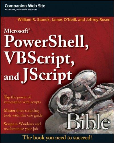 9780470386804: Microsoft PowerShell, VBScript and JScript Bible