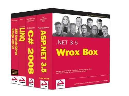 9780470387993: .NET 3.5 Wrox Box: Professional ASP.NET 3.5, Professional C# 2008, Professional LINQ, .NET Domain-Driven Design with C#