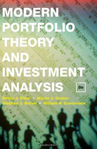 9780470388327: Modern Portfolio Theory and Investment Analysis