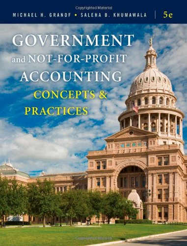9780470390788: Government and Not-for-Profit Accounting: Concepts and Practices