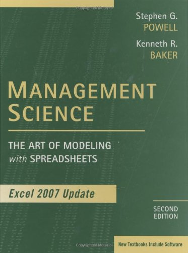 Management Science: The Art of Modeling with: Powell, Stephen G.,